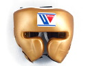 Special head gear featured winning color-Gold winning training head guard face guard type