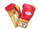 Limited item SPECIAL PRICE Winning winning professional gloves 14 oz Red x Gold
