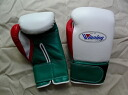 Winning 8-ounce gloves Velcro White x green x red new design America-ya original color