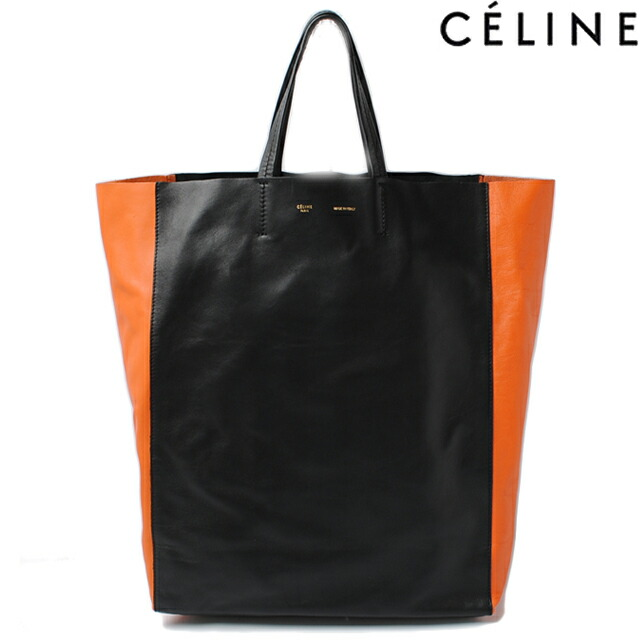 Import shop P.I.T.   Rakuten Global Market  Black   orange BI ... CELINE  Lambskin Horizontal Bi-Cabas Tote Blue Camel 8f42f69e07