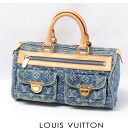 It is fs2gm LOUIS VUITTON Louis Vuitton handbag monogram Muneo Denis speedy blue M95019 USED