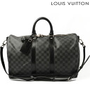 Keepall Louis Vuitton LOUIS VUITTON Boston and shoulder bags and Bandy ALE 45 N 41418 Damier graphite