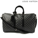 -Louis Vuitton LOUIS VUITTON Boston and shoulder bags keepall 45 N Bandy ALE 41418 Damier graphite