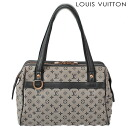 Louis Vuitton LOUIS VUITTON handbags / mini Boston bag Monogram mini Josephine PM blue M92214