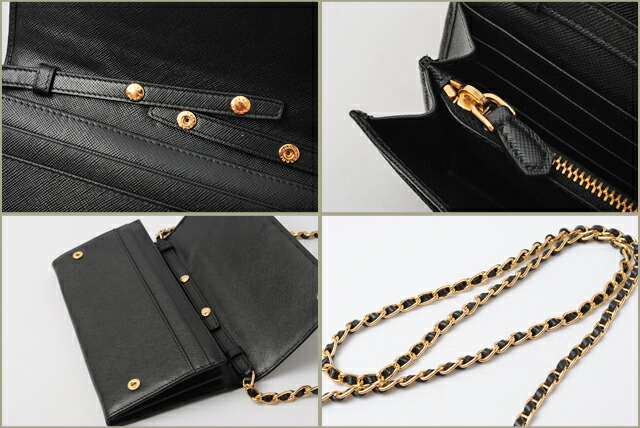 prada wallet on chain nero