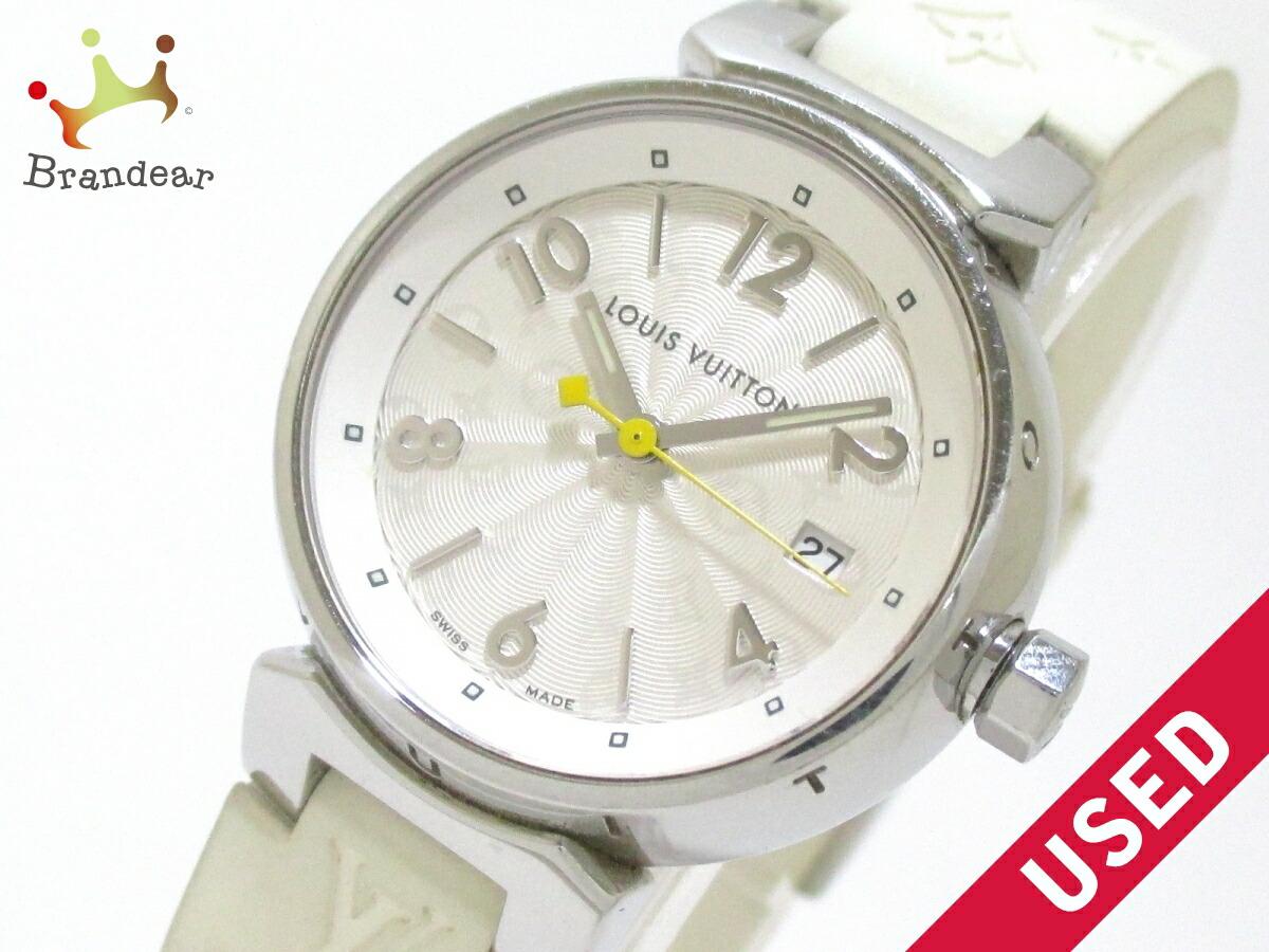 【新着】ヴィトン 腕時計 タンブール Q121K レディース SS×ラバーベルト【20160929】【中古】