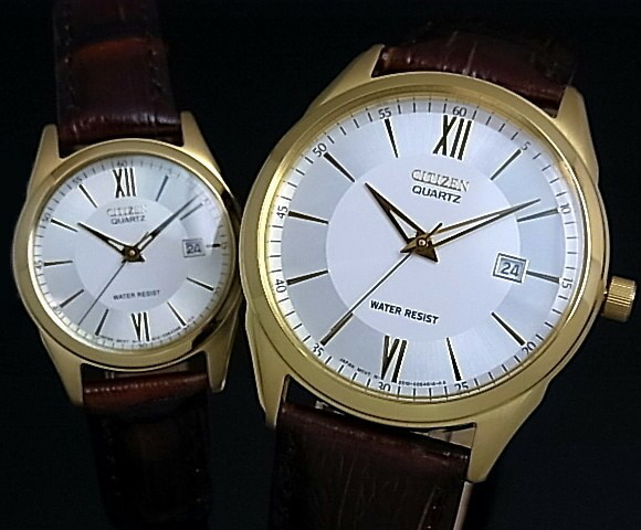 Citizen watches gold and silver