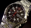 SEIKO/Chronograph military mens watch metal belt black letter Edition SND375 overseas models