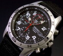 SEIKO/Chronograph military men watch black nylon belt black clockface SND399 foreign countries model