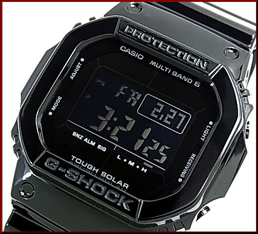 Casio g shockgrossy black series and glossy black series solar radio