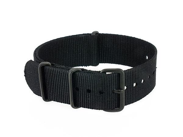 腕時計 WATCH ナイロン 替えベルト 001-BK-PV20 (58997) ブラック