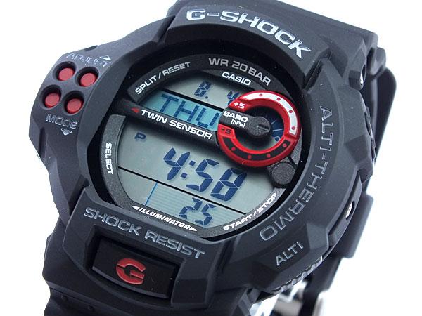 カシオ CASIO Gショック G-SHOCK ツインセンサー 腕時計 GDF100-1A 文字盤、全体