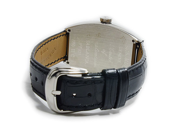 フランクミュラー FRANCK MULLER カサブランカ 自動巻 メンズ 腕時計 5850CWHTBLKALI ベルト バックル 背面