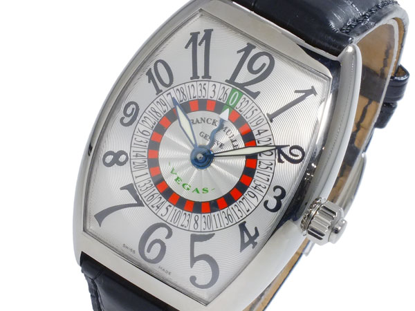 フランクミュラー FRANCK MULLER ヴェガス 自動巻 メンズ 腕時計 6850-VEGAS-SLV