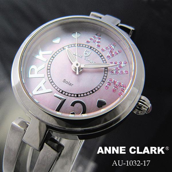 アンクラーク ANNECLARK ソーラー レディース 腕時計 AU1032-17 ピンクシェル