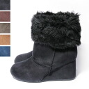 [New ◆ ★ wedge fur short Shearling boots 10P28oct13.
