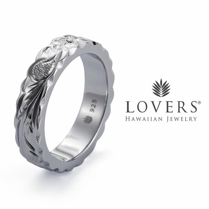 【LOVERS(ラヴァーズ)】フラットリング5mm幅 SV925ロジウムコーティング