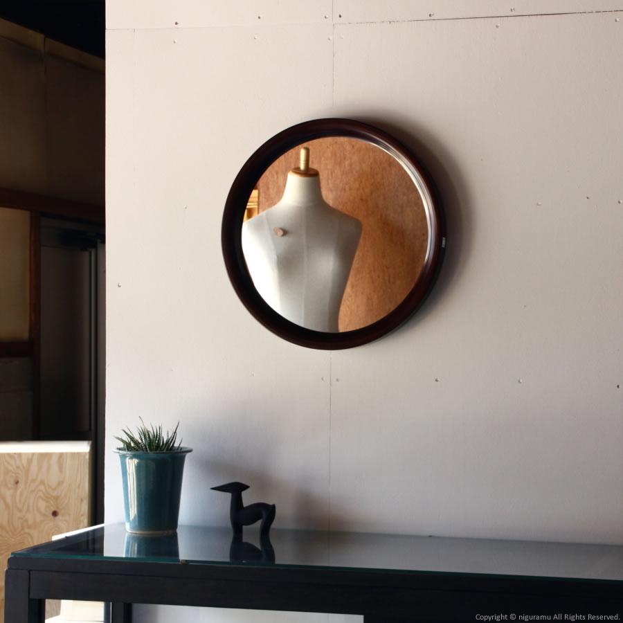 ウォールミラー丸型 / 古代色