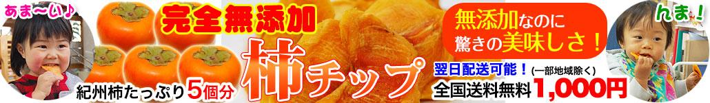 無添加 柿チップ 送料無料 1000円