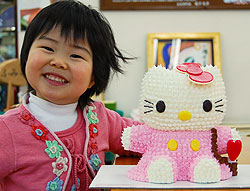みんな笑顔に!キティちゃんの立体ケーキ