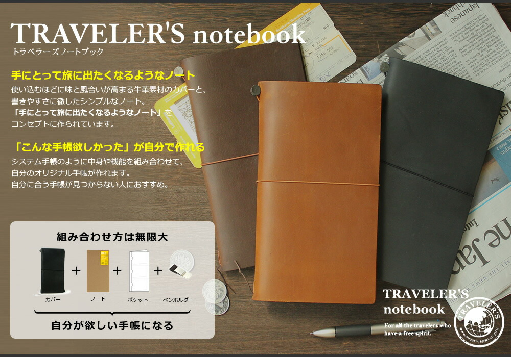 TRAVELER'S Notebook �ȥ�٥顼���Ρ���