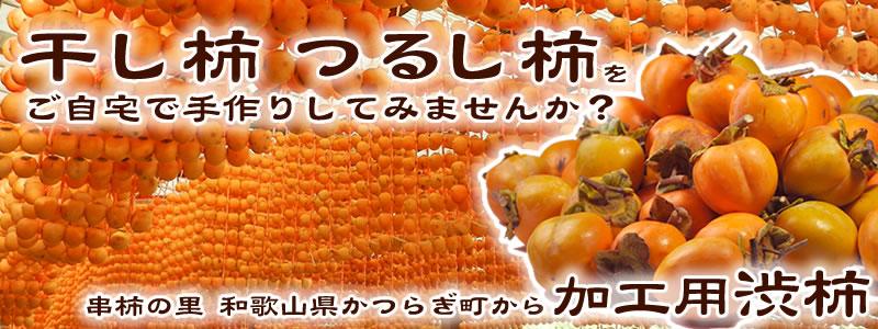 自家製の干し柿・串柿の原料、渋柿