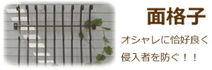オーダーメイド・アイアン製・面格子
