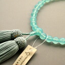 Kyoto for Union women prayer beads wholesale, Rosary manufacturing, シーブルーカルセドニー, pure silk head tuft
