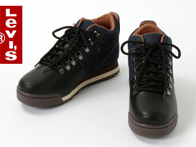 Black Levi Shoes Levi Mountain Boots Black