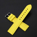 Natural rubber watch strap with stitch YELLOW 20mm