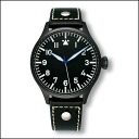 ARCHIMEDE pilot historical dial 42 mm PVD watch watches black leather