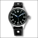 42 millimeters of ARCHIMEDE pilot history Cal dial titanium watch clock black leather