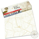 Design wax paper old Paris map