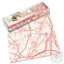 Design wax paper old Paris map