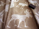 Northern European hemp linen cure elk reindeer towel fs3gm