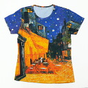 Vincent Fan Gogh evening Café largest, pattern ladies print t-shirts series