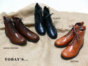 I talk to classy Medallion ★ Manish wing tip. Short boots! High-quality leather Luster Finish Kobe shoes manufacturer direct! Women's shoe store (25.0)
