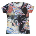While Japan's largest of the beauties of nature, hotarubi, pattern ladies print t-shirts series
