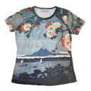 Beauties of nature scenery of cherry blossoms is Japan's largest, pattern ladies print t-shirts series [OL-T-W015-165], [fs04gm]