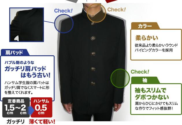肩パッド カラー 袖
