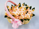 Blooming rose flower basket pink 25 PCs