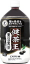 12 Calpis 健茶王黒豆黒茶 1L pet Motoiri [black soybean tea food for specified health use トクホ]