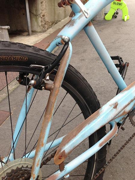 自転車の 自転車 フレーム カスタムペイント : ウマイねー 絶妙な感じが