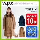 World party (w.p.c) raincoat tent-line Lady's WPC| World party | Rainwear | Wear | Rain jacket | Rain jacket | レイングッツ | Navy | Beige | Umbrella | OUTDOOR | グッツ | Pretty | Fashion | Lane goods