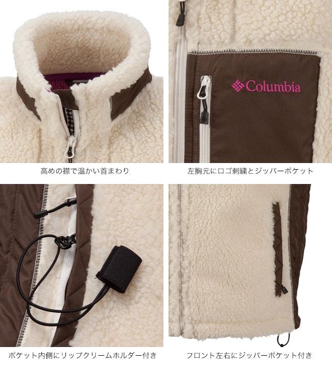 columbia (コロンビア) Archer Ridge Women's Jacket アーチャーリッジウィメンズジャケット 高めの襟で温かい首まわり 左胸元にロゴ刺繍とジッパーポケット ポケット内側にリップクリームホルダー付き フロント左右にジッパーポケット付き