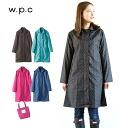 World party (w.p.c) raincoat pin dot A-line-style Lady's WPC| World party | Rainwear | Wear | Rain jacket | Rain jacket | レイングッツ | Navy | Pink | Green | Black | Umbrella | グッツ | Pretty | Fashion | Lane goods