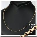 K18 하프 라운드 체인 목걸이 (18k, 18 금) (45cm 폭 1.2 mm 슬라이드 AJ) (nhks4512)