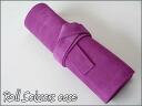 Leather roll Sizer case violet