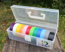 Bouldering BOX into plastic BOX into bouldering 12 colors (black, ash and white and red and orange and blue and empty, green, wakakusa, yellow and pink and purple) electro chemical co., Ltd. harness tape volume 1: 19 mm width x 20 m vinyl tape #234W