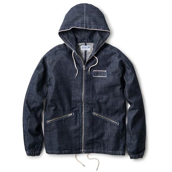 INTERBREEDよりデニム生地のフードジャケット